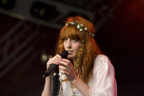 with a florence and the machine
