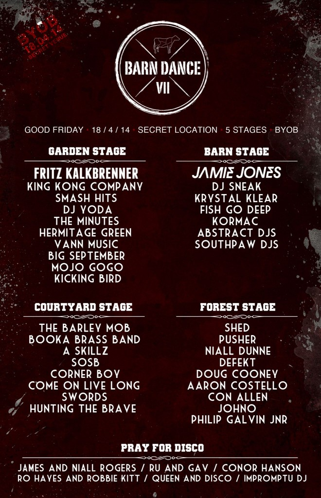 Barn Dance stage breakdown