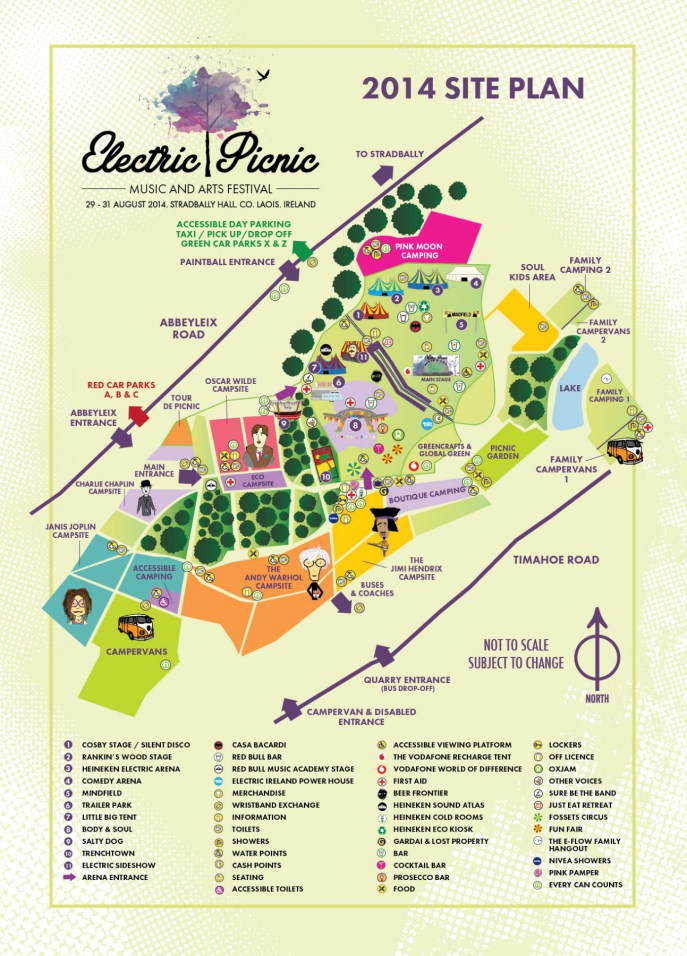 Electric Picnic 2014 Sitemap