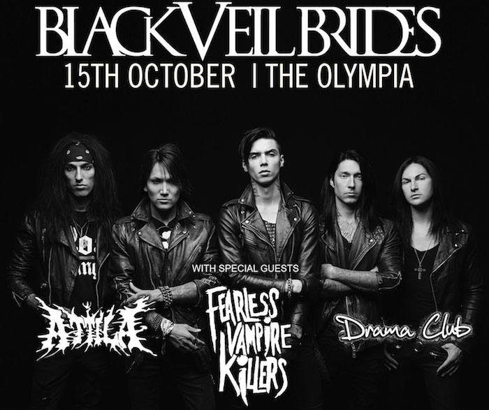Black Veil Brides, Olympia Theatre, Free Tickets