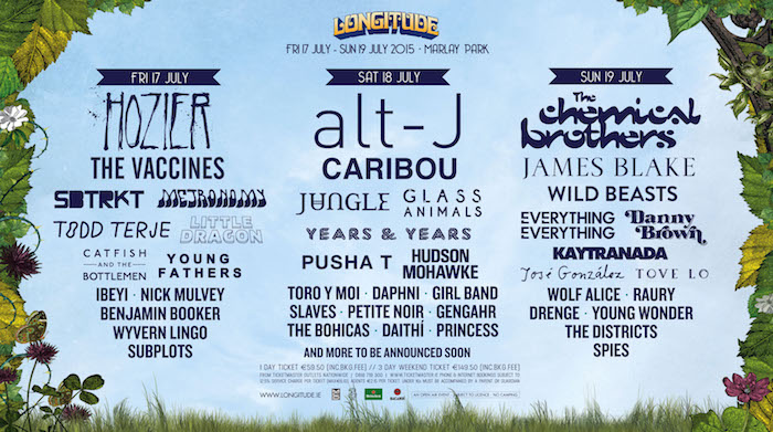 Longitude 2015 Day By Day Lineup