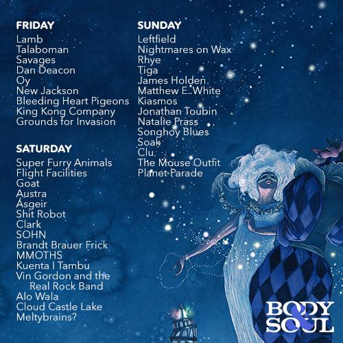 Body and Soul 2015 day-by-day breakdown