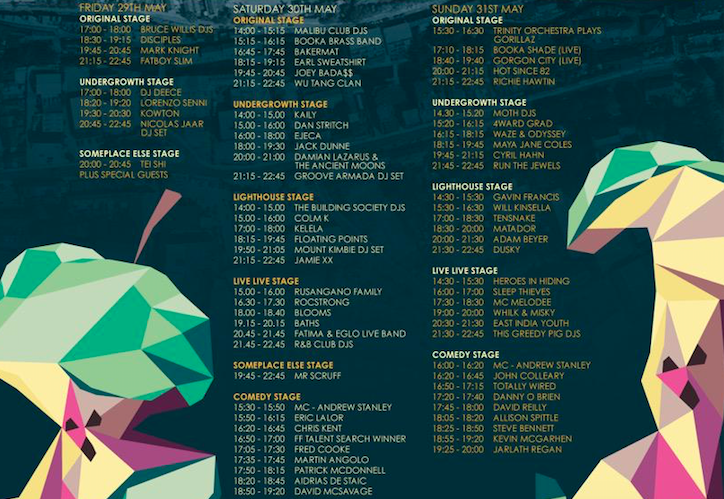 Forbidden fruit 2015 Stage Times