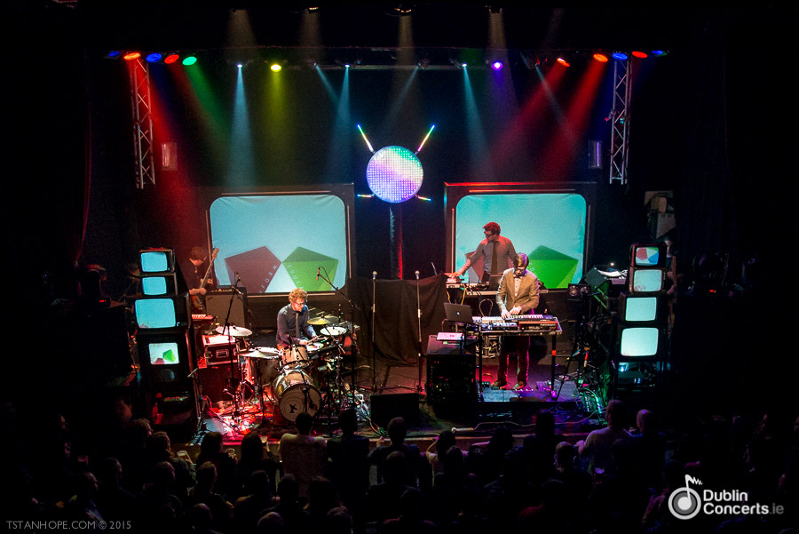 Public Service Broadcasting Button Factory Photos