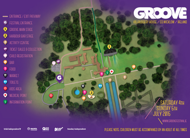 Groove Festival 2015 sitemap