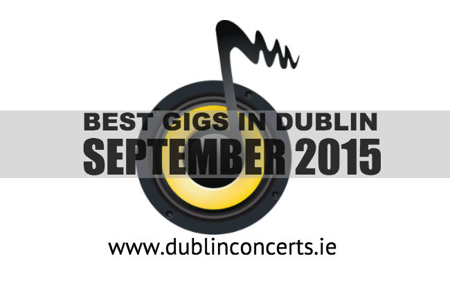September gigs recommended by Dublin Concerts