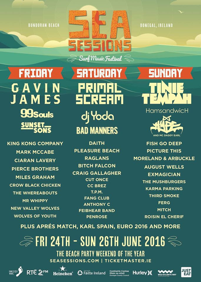 Sea Sessions 2016 Day to Day Line-up