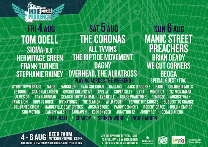 Indiependence 2017 Day by day lineup