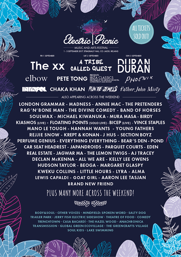 Electric Picnic 2017 Lineup