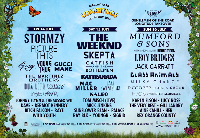 Longitude 2017 Day-by-day LineUp