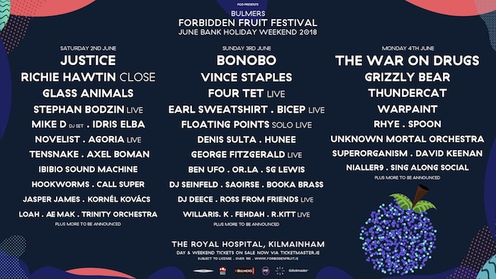 Forbidden Fruit 2018 day by day breakdown